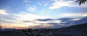 箕面市の空 夕景