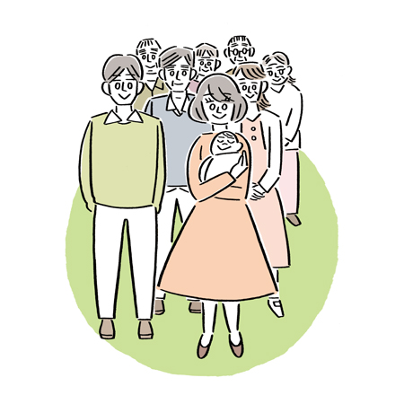 心理カウンセリング 大阪 箕面・家族のイラスト