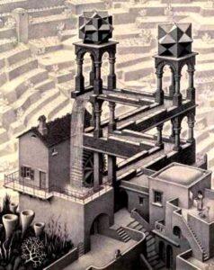 エッシャー滝の絵の画像