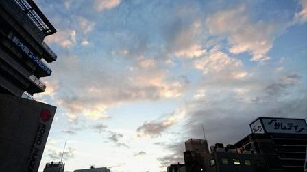 同じ日の夕景写真